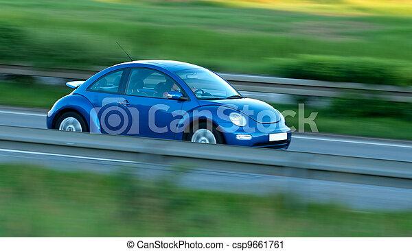 動き, 自動車, 速い, ぼやけ - csp9661761
