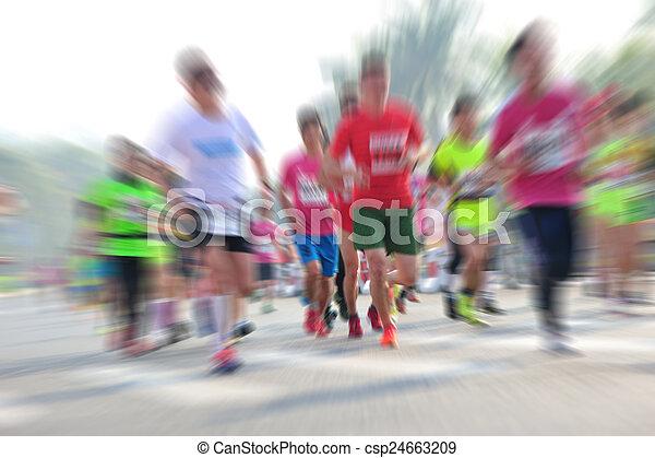 動くこと, マラソン, レース - csp24663209
