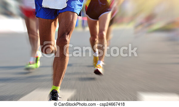 動くこと, マラソン, レース - csp24667418
