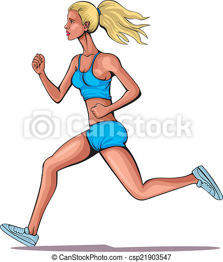 動くこと, 女の子, 若い - csp21903547