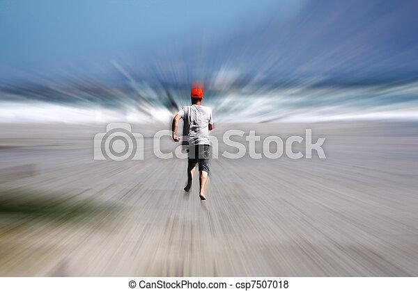 動くこと, 浜, 人 - csp7507018