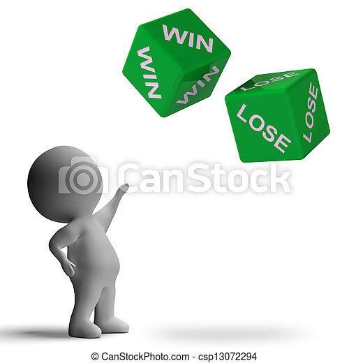 勝利, 提示, さいころ, 賭け, 失いなさい - csp13072294