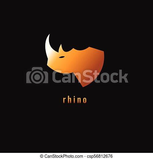 勾配, シンボル。, サイ, 暗い, バックグラウンド。, ベクトル, オレンジ, logo. - csp56812676