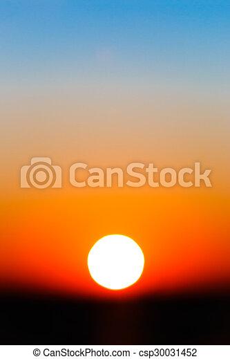 勾配, 太陽, 抽象的, 空, 日没 - csp30031452