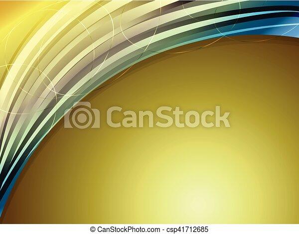 勾配, 抽象的, カーブ, 金, 背景 - csp41712685