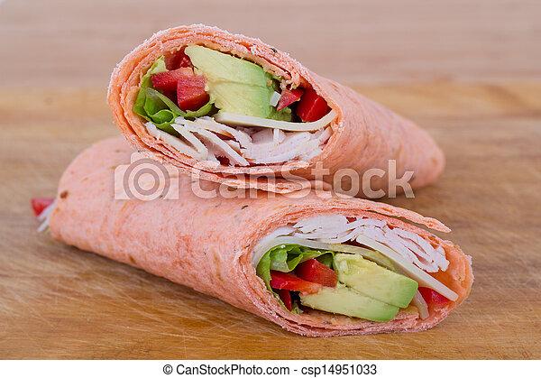 包みなさい, 白, サンドイッチ, 肉 - csp14951033