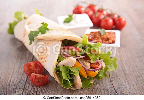 包みなさい, tortilla, fajita - csp25914359