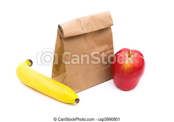 包装紙 袋, 昼食 - csp3990801