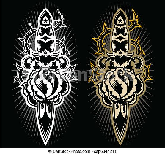 匕首, 設計, 上升 - csp6344211
