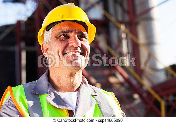 化学物質, 中央, 産業, 年を取った, 労働者 - csp14685090