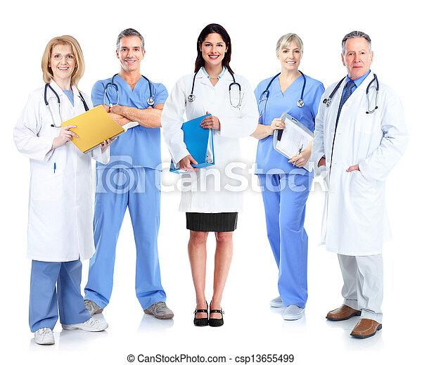 医学, グループ, 医者。 - csp13655499