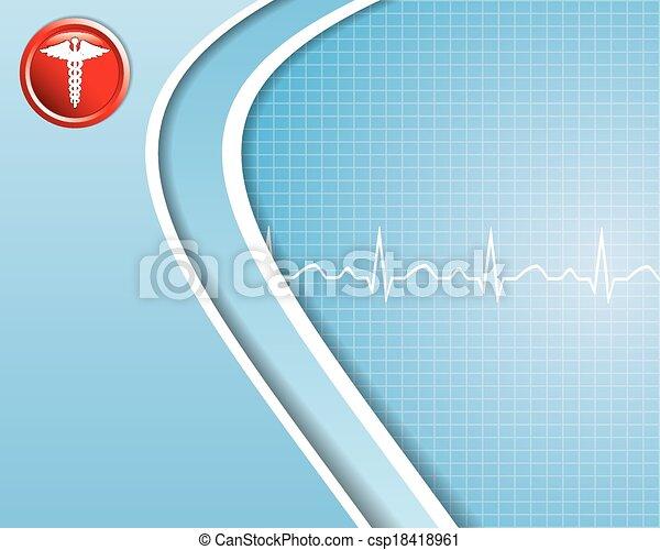 医学, 背景, 抽象的 - csp18418961