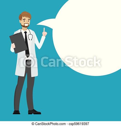 医者, スピーチ, 漫画, bubble. - csp59619397