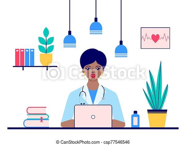 医者, モデル, オフィス - csp77546546