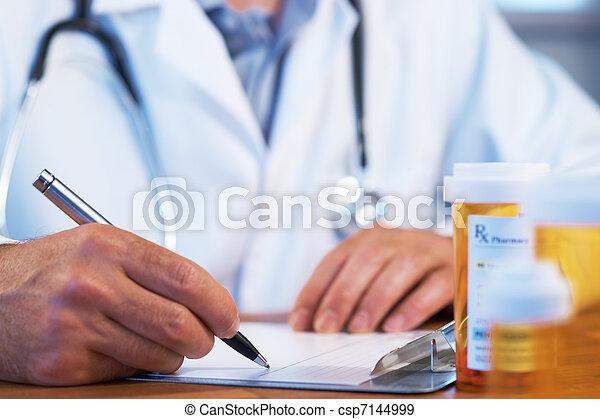 医者, 執筆, rx, 処方せん - csp7144999
