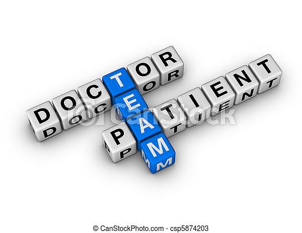医者, 患者, チーム - csp5874203