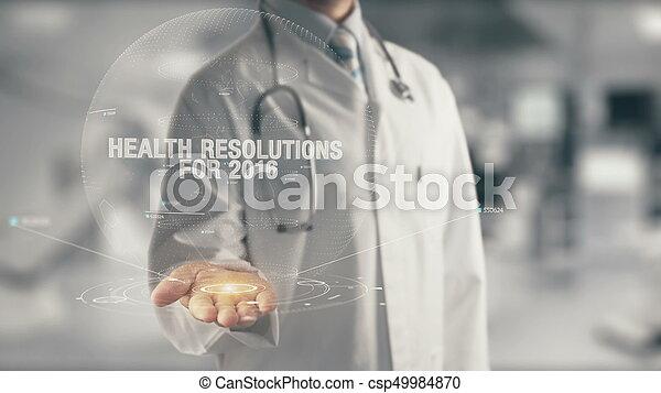 医者, 手, 健康, 保有物, resolutions, 2016 - csp49984870