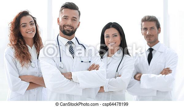 医者, group., 隔離された, 医学, バックグラウンド。, 白 - csp64478199
