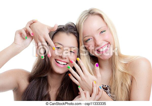 十代の若者たち, 爪 - csp11333335
