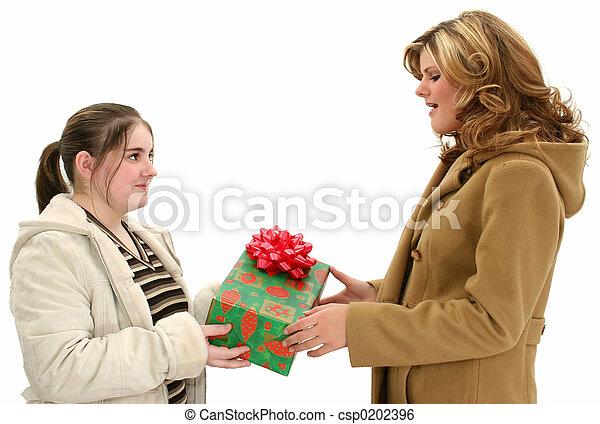 十代, 家族, 贈り物 - csp0202396