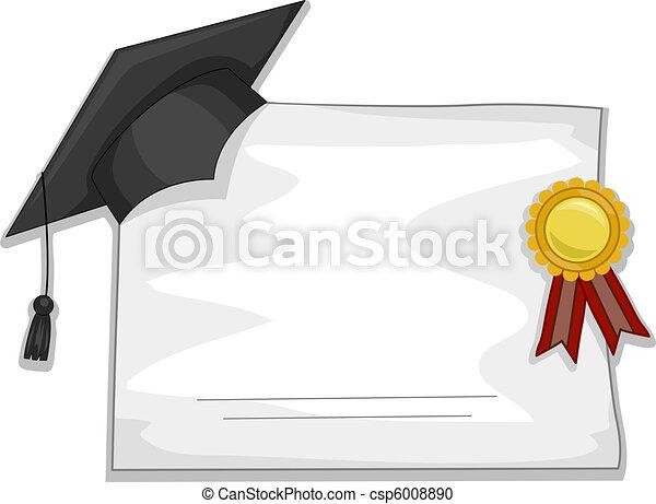 卒業証書, 卒業 - csp6008890