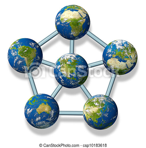 協力, 世界的である, 北アメリカ - csp10183618