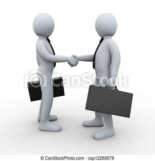 協力, 3d, 取引, 人々 - csp12269579