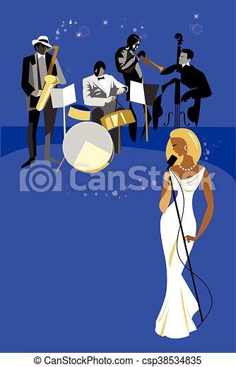 単独, ジャズコンサート, バンド - csp38534835