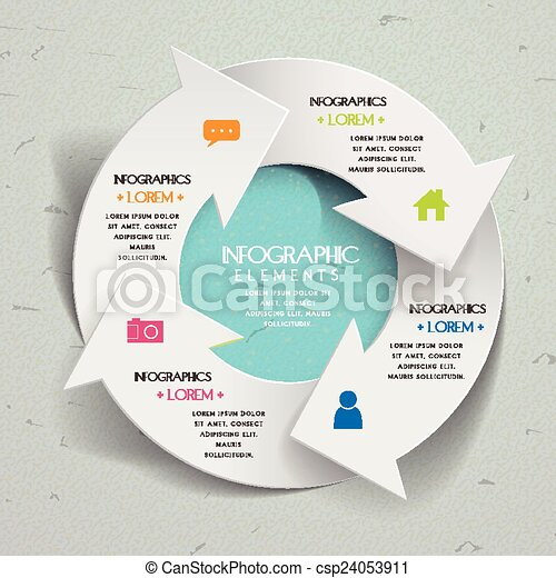 単純さ, テンプレート, infographic, デザイン - csp24053911