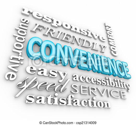 単語, サービス, コラージュ, 速い, 便利さ, 味方, 3d - csp21314009