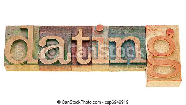 単語, デートする, タイプ, 凸版印刷 - csp6949919