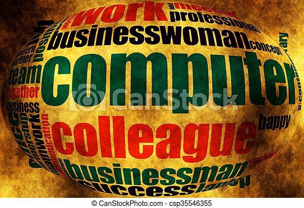 単語, ビジネス, 雲 - csp35546355