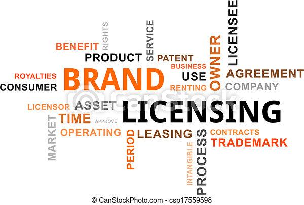 単語, ブランド, -, 免許, 雲 - csp17559598