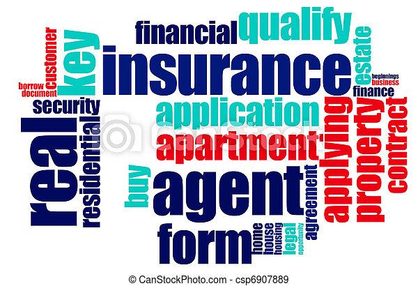 単語, 保険, 雲 - csp6907889