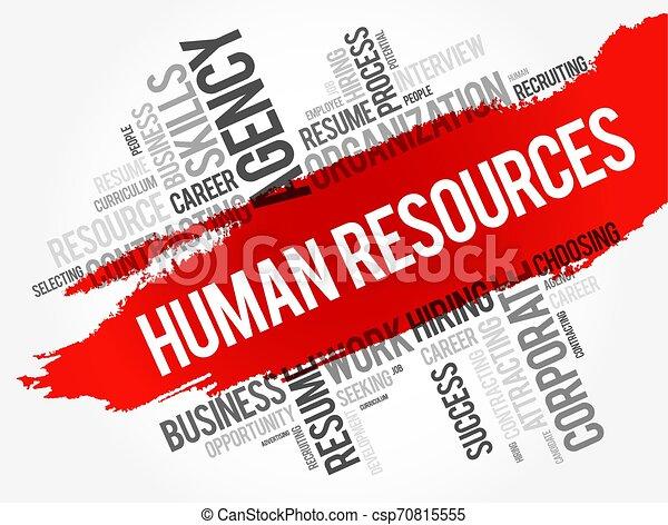 単語, 時間, -, コラージュ, 雲, 人的資源 - csp70815555
