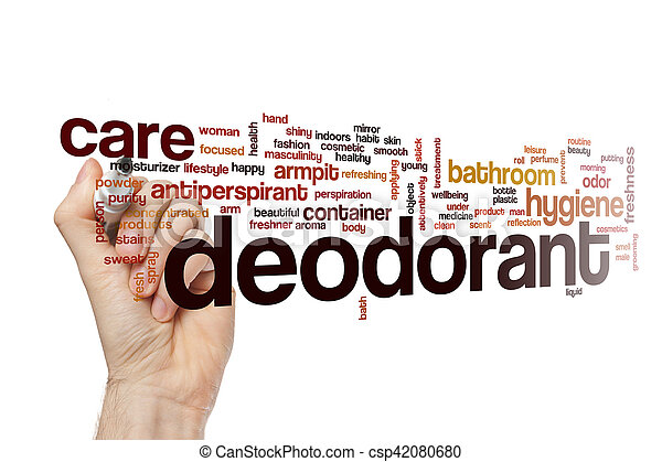 単語, 概念, 防臭剤, 雲 - csp42080680