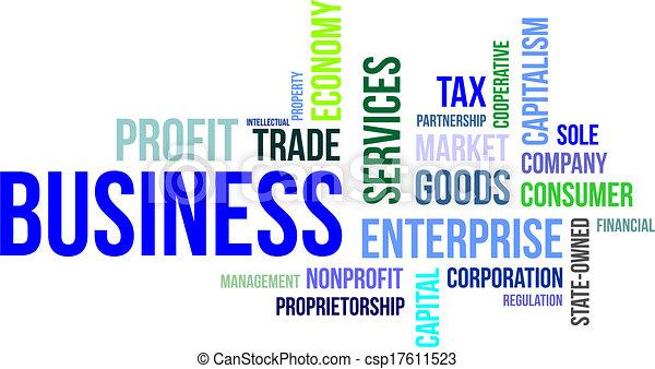 単語, -, 雲, ビジネス - csp17611523