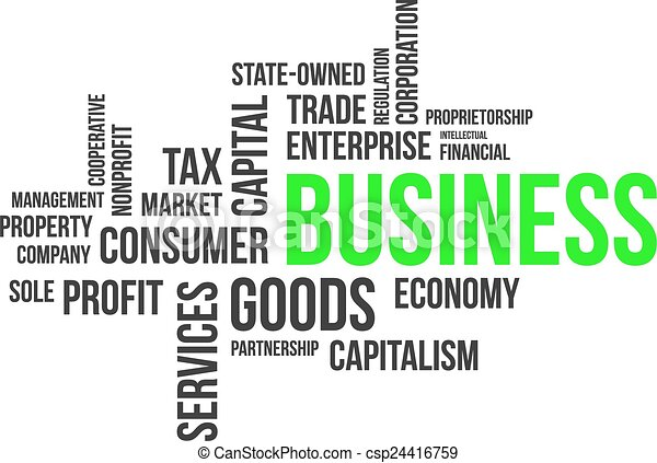 単語, -, 雲, ビジネス - csp24416759
