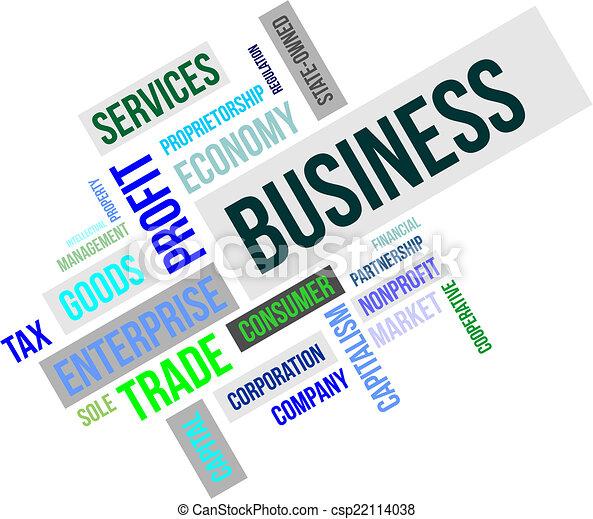 単語, -, 雲, ビジネス - csp22114038