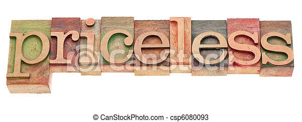 単語, pricesless, タイプ, 凸版印刷 - csp6080093