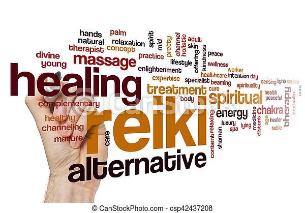 単語, reiki, 雲 - csp42437208