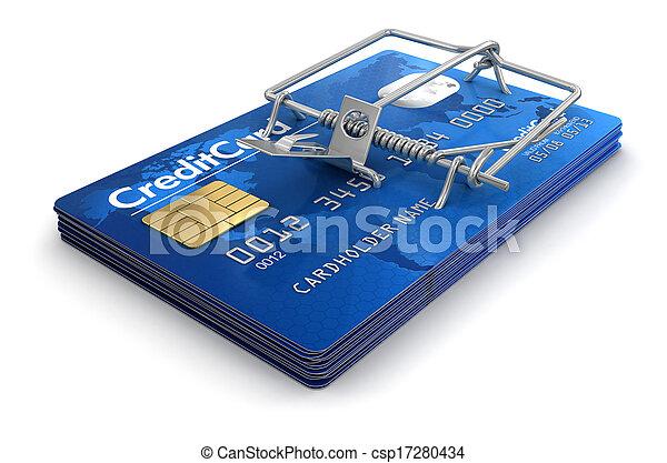 卡片, 信用, 捕鼠器 - csp17280434
