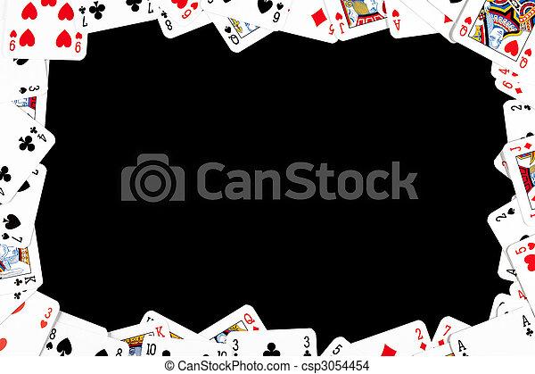 卡片, 赌博, 扑克牌, 做, 框架 - csp3054454