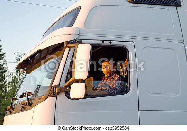 卡車駕駛員, 船艙 - csp3952584