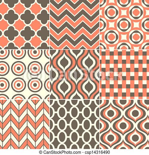 印刷品, 圖案, seamless, retro - csp14316490