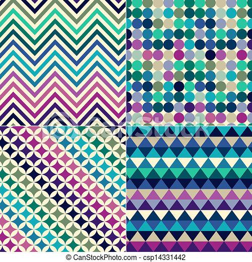 印刷, パターン, seamless, 幾何学的 - csp14331442