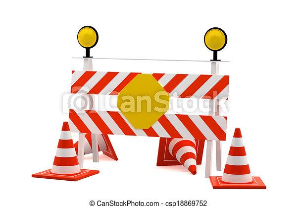 印, ブロック, 再建, 道, - - csp18869752