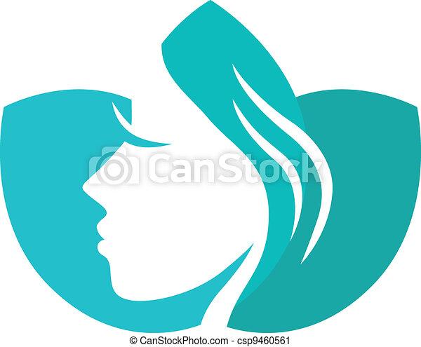 印, 美しさ, 隔離された, 女性, ロータス, 白 - csp9460561