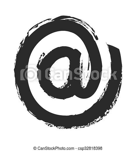 印, 電子メール, シンボル, ベクトル, アイコン - csp32818398