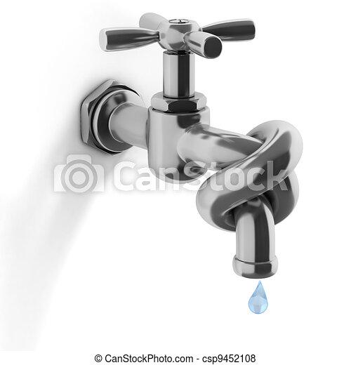 危機, 概念, 水, 3d - csp9452108
